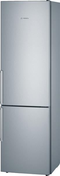 BOSCH_Chladnicka 201 cm, chlad. 249l, mraz. 88l,156 kWh/365 dni LED-displej (2 chladiace okruhy) A+++ Nerez
