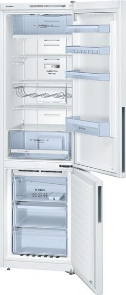 BOSCH_Chladnicka 201 cm NoFrost chlad. 268l, mraz. 86l, 250 kWh/365 dni LED-displej A++ Biela
