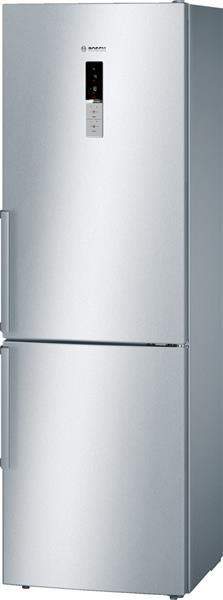 BOSCH_Chladnicka 186 cm NoFrost, chlad. 234l, mraz. 86l, 258 kWh/365 dni LED-displej A++ InoxLook