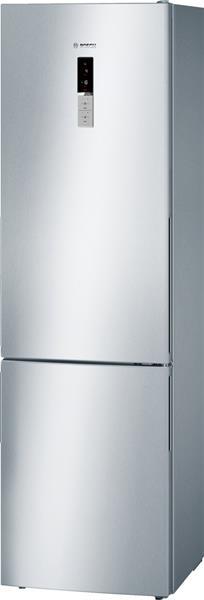 BOSCH_Chladnicka 201 cm NoFrost, chlad. 269l, mraz. 86l, 179 kWh/365 dni LED-displej A+++ InoxLook
