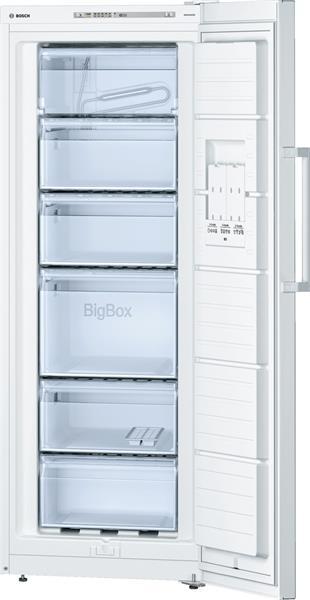 BOSCH_Mraznicka 161 cm Jednodverova(suplíkova)mraznicka, 198 l, 194 kWh/365 dni A++ LED-displej Biela