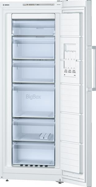 BOSCH_Mraznicka 161 cm, Jednodverova (suplikova) NoFrost 195 l, 211 kWh/365 dni A++ LED-displej Biela