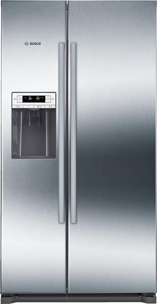 BOSCH_Chladnicka 177 cm, noFrost, chlad. 370l, mraz. 163l, 436kWh/365 dni LCD-displej A+ Nerez