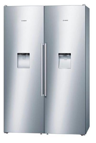 BOSCH_Chladnicka 186 cm, chlad. 346 l, mraz. 210 l, 391 kWh/365 dni A++ a A+ NoFrost Vydajnik vody Nerez