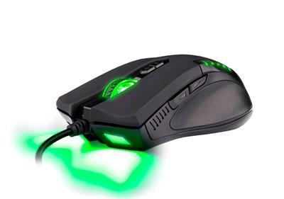 C-Tech myš Empusa (GM-17), hráčska, zeleno podsvietená, laser 3400DPI, USB