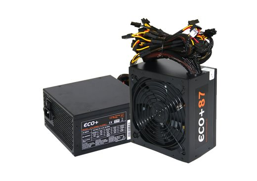 Zdroj 600W, ECO+87 ATX-600WA-14-85(87), APFC, účinnosť 87+, 14cm vent., bulk