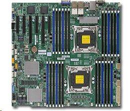 SUPERMICRO MB 2xLGA2011-3, iC612 24x DDR4 ECC R,10xSATA3,(PCI-E 3.0/2,3(x16,x8)PCI-E 2.0/1(x4),4x 10GbE LAN,IPMI