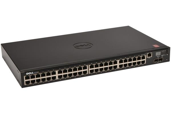 Dell Networking N2048P L2 POE+ 48x 1GbE + 2x 10GbE SFP+ fixed ports Stacking IO to PSU air AC