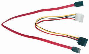 10 box SATA dátovy kábel 40cm + SATA napájacia redukcia