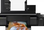 Epson L805, A4 color foto tlaciaren, tlac na CD/DVD, USB, WiFi + 200ks fotopapier 10x15