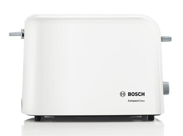 BOSCH_980 W, nadstavec na žemle, automat. centrovanie, plynulá regulácia, zásuvka na omrvinky, biela