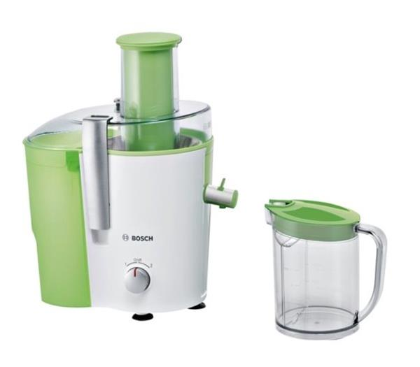 BOSCH_700 W, dva rýchlostné stupne, dvojitý filter, veľký plniaci otvor na celé kusy ovocia, veľká nádoba 1,25 l