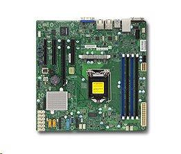 Supermicro X11SSM-F 1xLGA1151, iC236,DDR4,8xSATA3,PCIe 3.0 (1 x8, 1 x8 (in x16), 1 x4 (in x8)), IPMI (bulk)