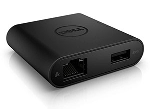 Dell Adapter - USB-C to HDMI/VGA/Ethernet/USB 3.0 DA200