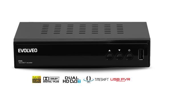 EVOLVEO Dual HD DVB-T rekordér Delta. HDMI,scart,coax