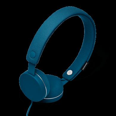 URBANEARS HUMLAN Indigo, štýlové uzatvorené slúchadlá, indigovo-modré