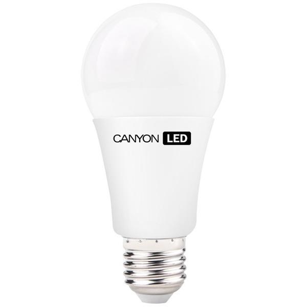 Canyon LED COB žiarovka, E27, guľatá, mliečna, 9W, 806 lm, teplá biela 2700K, 220-240V, 200°, Ra>80, 50.000 hod