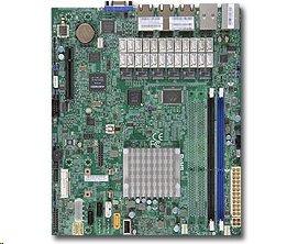 Supermicro mATX MB Atom C2358 2-core (7W TDP),2x DDR3 ECC,, 7xLAN, IPMI