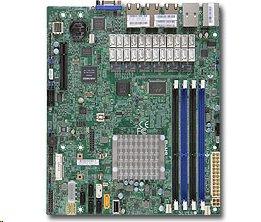 Supermicro mATX MB Atom C2758 8-core (20W TDP),4x DDR3 ECC,, 7xLAN, IPMI
