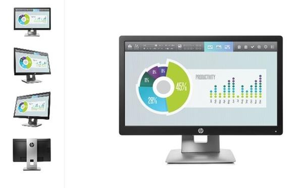 HP EliteDisplay E202, 20 IPS, 1600x900 HD+, 1000:1, 7ms, 250cd, VGA, DVI, DP, USB, PIVOT, 3y