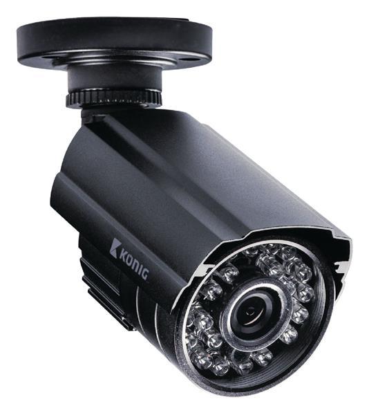 König Bezpečnostná kamera 700 TVL vrátane 18-m kábla