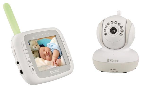 """König Digitálny video monitor detí s 3,5"""" LCD displejom, 2,4 GHz (detská pestúnka)"""