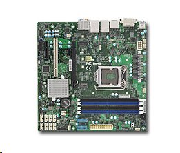 Supermicro X11SAEM 1xLGA1151 (E3,i7), iC236,DDR4,8xSATA3,PCIe 3.0 (1 x16, 1 x4),1xPCI-32,1xM.2, HDMI,DP,DVI,Audio