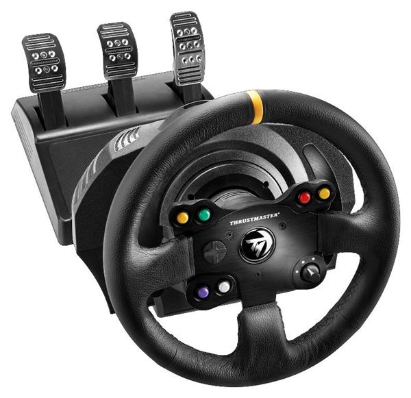 Thrustmaster Sada volantu a pedálů TX Leather Edition pro Xbox One, One X, One S a PC (4460133)