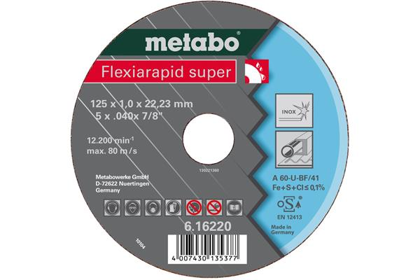 Metabo Flexiarapid super 125x0,8x22,23 Inox