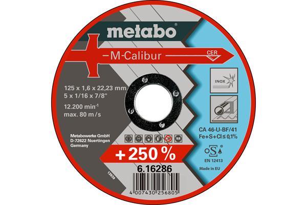 Metabo Rezný kotúč M-CALIBUR 125 X 1,6 X 22,23 INOX, TF 41