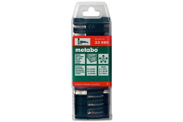 Metabo Sortiment pílových listov priamočiarej píly 4, drevo, 25-dielny