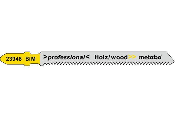 Metabo 5 ks listov priamočiarej píly, drevo, profess. 74/1,7 mm