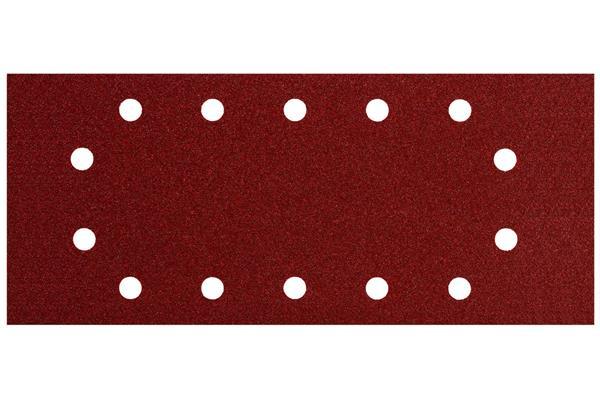 Metabo 10ks Brúsny papier pre upínanie 115x280 mm, P240, 14 otvorov (drevo,kov, farebné nátery)