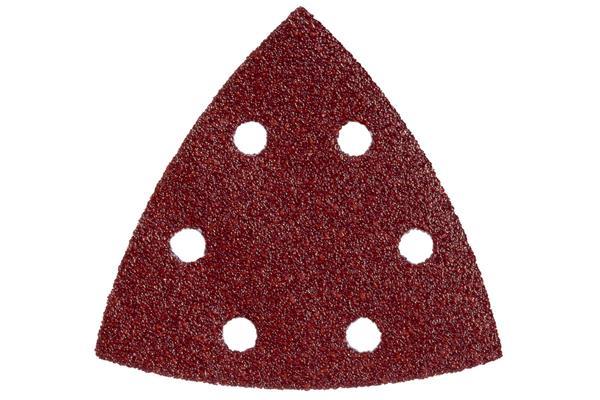 Metabo Brúsny papier so suchým zipsom 93x93 mm,P100, 6 otvorov (drevo,kov, farebné nátery), 5ks