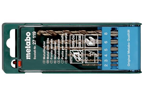 Metabo HSS-CO-Kazeta s vrtákmi 6-dielna