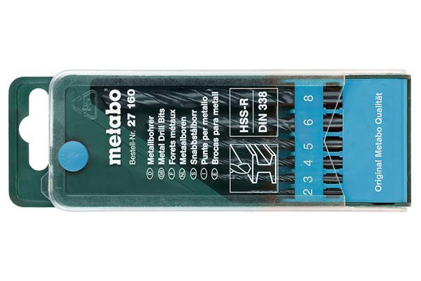 Metabo HSS-R-Kazeta s vrtákmi do kovu 6-dielna