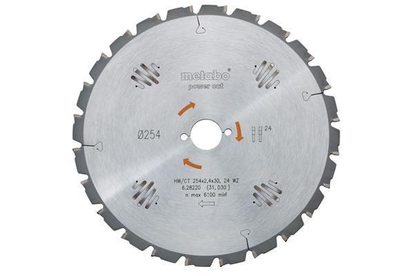 Metabo Pílový kotúč pre ručné okružné píly HW/CT 190x20, 14 WZ 25°