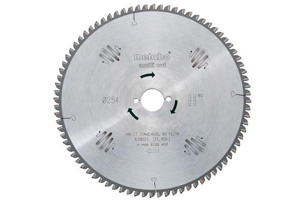 Metabo Pílový kotúč pre stacionárne okružné píly HW / CT 210x30, 60 WZ, 5° NEG.