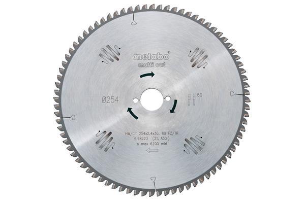Metabo Pílový kotúč HW/CT 250x30, 80 WZ 10°