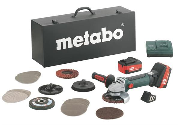 Metabo W 18 LTX 125 Quick Inox Set * Aku-Uhlová brúska