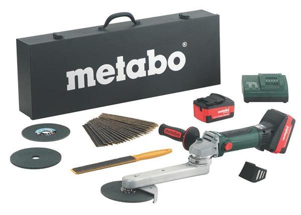 Metabo KNS 18 LTX 150 Set * Aku-Brúska na kútové zvary