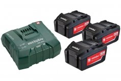 Metabo Basic-Set 3 x 5.2 Ah ASC ULTRA