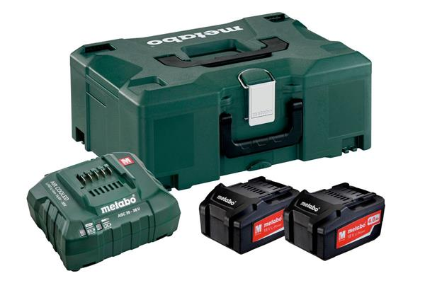 Metabo Basic-Set 2 x 4.0 Ah + MetaLoc