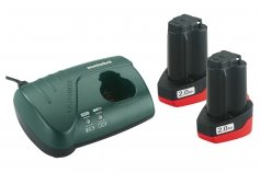 Metabo Basic-Set 10.8 V 2 x 2.0 Ah