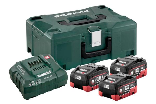 Metabo Basic-Set 3 x LiHD 5.5 Ah + MetaLoc