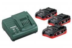 Metabo Basic-Set 3 x LiHD 3.1 Ah