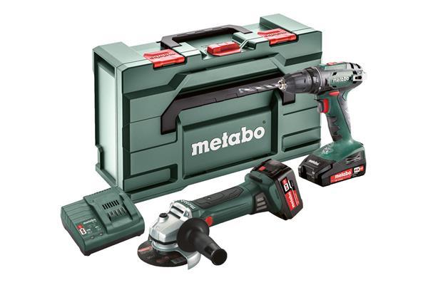 Metabo Combo Aku vŕtačka so skrutkovačom BS 18 + Aku uhlová brúska W 18 LTX 125