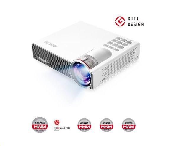 ASUS P3B Wireless LED projektor, WXGA 1280x800, 800lm, 1000:1, 30000hod., batéria, repro