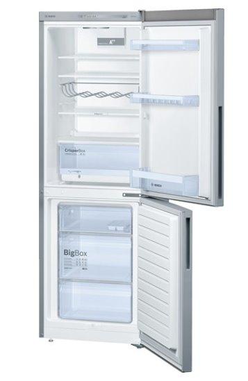 BOSCH_Chladnicka A++, 219 kWh/rok, 288 l (194l/94l), LED-displej, LowFrost, InoxLook