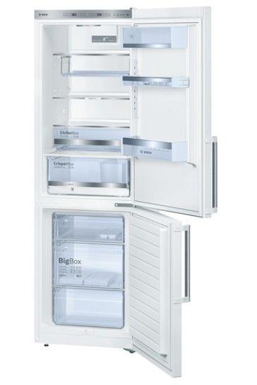 BOSCH_Chladnicka 186 cm, chlad. 214l, mraz. 88l, 149 kWh/365 dní, LED-displej (2 chladiace okruhy), A+++, biela